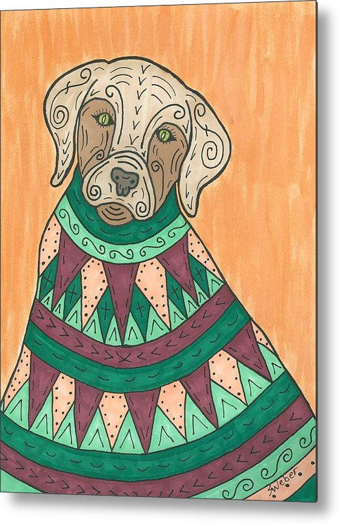 Labrador Metal Print featuring the painting Lab Coat by Susie Weber