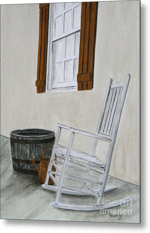 Americana Metal Print featuring the painting Lazy Day by Regan J Smith