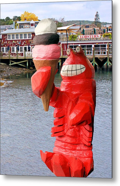 Maine Metal Print featuring the photograph Maine Ice Cream by Kristin Elmquist