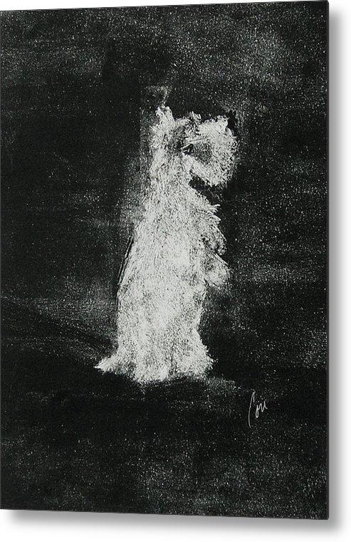 Monotype Metal Print featuring the mixed media Midnight Sonata by Cori Solomon