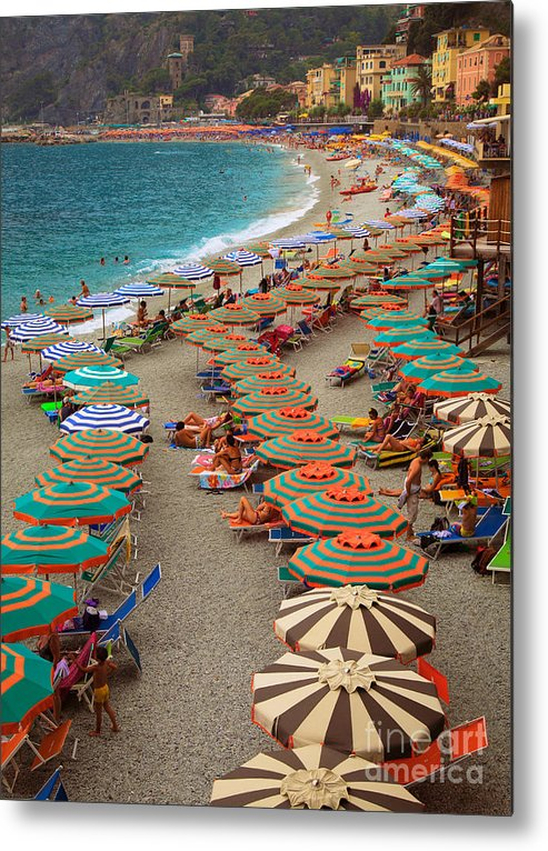 Cinque Metal Print featuring the photograph Monterosso Beach by Inge Johnsson