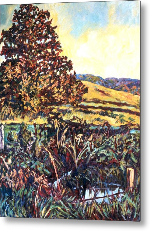 Landscape Metal Print featuring the painting Near Childress by Kendall Kessler