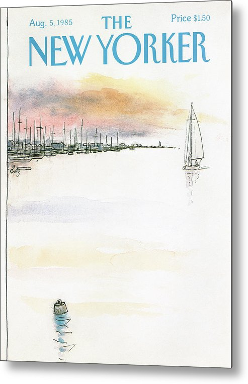 Nature Metal Print featuring the painting New Yorker August 5th, 1985 by Arthur Getz