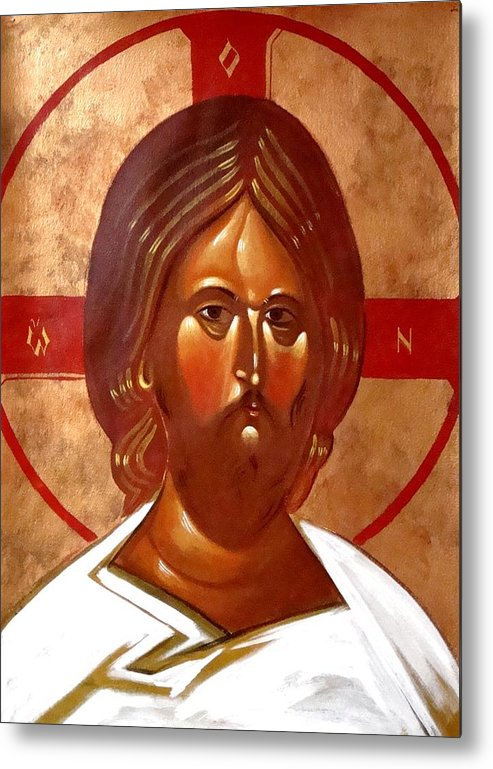 Icon Metal Print featuring the painting Pantocrator by Joseph Malham