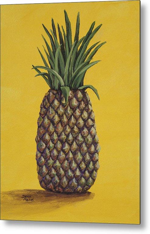 Fruit Metal Print featuring the painting Pineapple 4 by Darice Machel McGuire