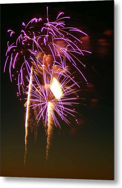 Fireworks Metal Print featuring the photograph Purple Trees by Optical Playground By MP Ray