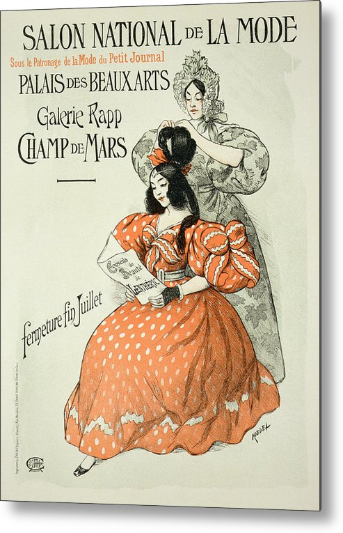 Advert Metal Print featuring the drawing Reproduction Of A Poster Advertising by Roedel