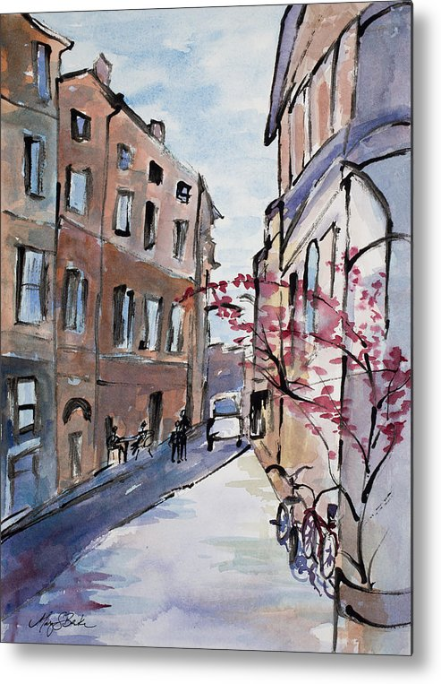 Italy Metal Print featuring the painting Rome Street Scene IIi by Mary Benke