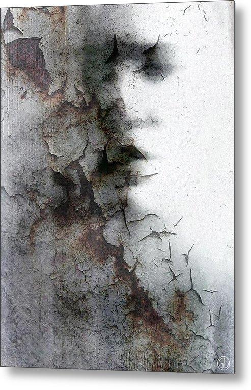 Woman Metal Print featuring the digital art Shadow On A Wall by Gun Legler