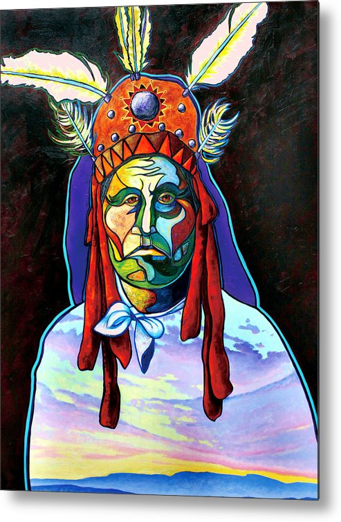 American Indian Metal Print featuring the painting Shamans Power by Joe Triano