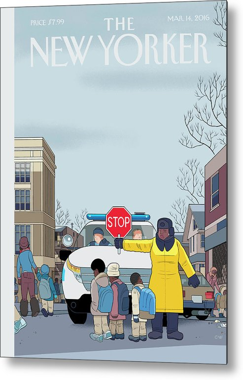 Police Metal Print featuring the painting Stop by Chris Ware