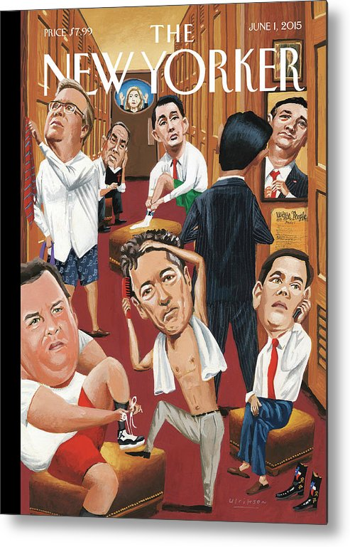 Marco Rubio Phone Metal Print featuring the painting Suiting by Mark Ulriksen