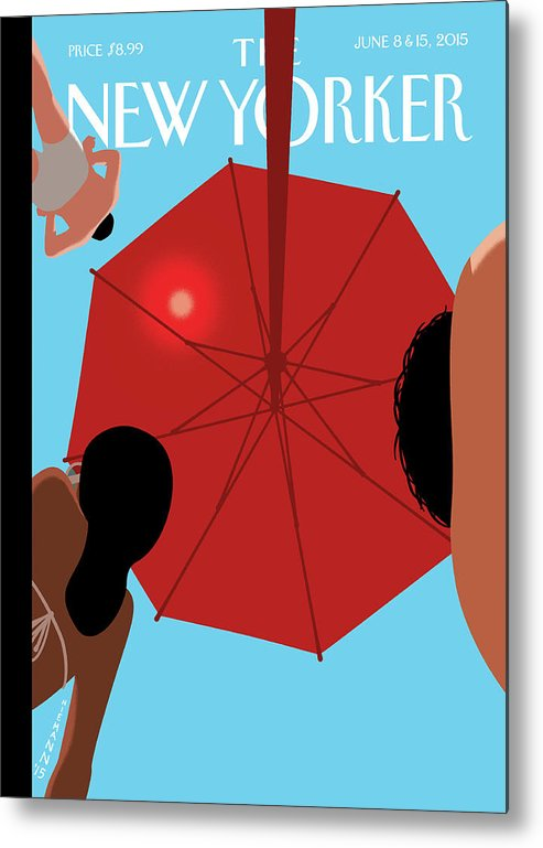 Beach Metal Print featuring the painting Summer Sky by Christoph Niemann