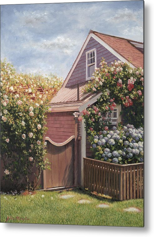 Nantucket Metal Print featuring the painting Sweet Summer Sconset by Julia O'Malley-Keyes