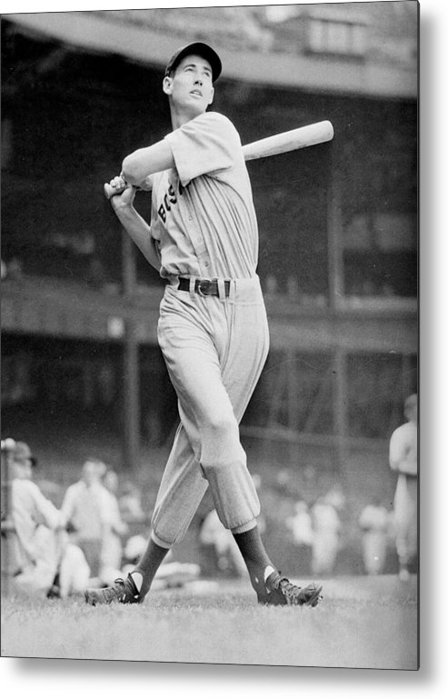 Ted Metal Print featuring the photograph Ted Williams Swing by Gianfranco Weiss