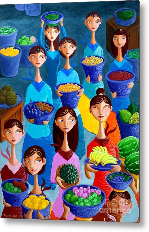 Fruits Metal Print featuring the painting Tutti Frutti by Paul Hilario