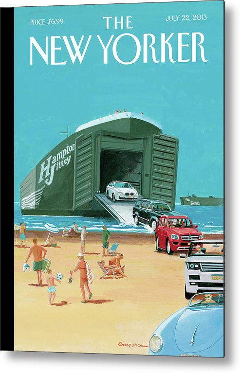Travel Metal Print featuring the painting New Yorker July 22nd, 2013 by Bruce McCall