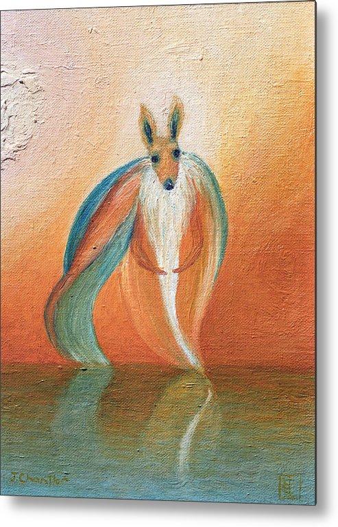 Wallaby. Judith Chantler. Metal Print featuring the painting Wallaby Spirit by Judith Chantler