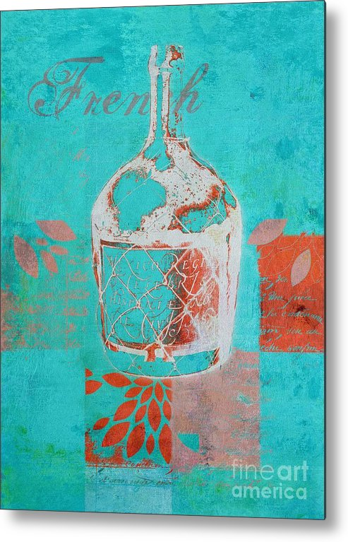 Blue Metal Print featuring the digital art Wild Still Life - 12311a by Variance Collections