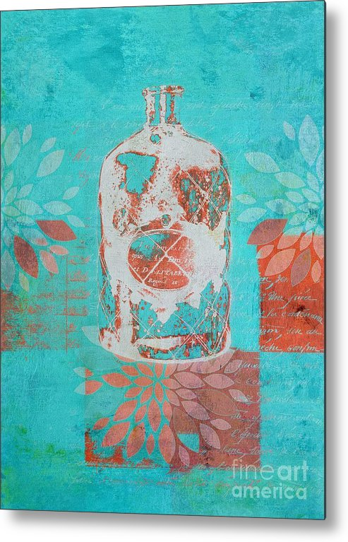 Blue Metal Print featuring the digital art Wild Still Life - 13311a by Variance Collections