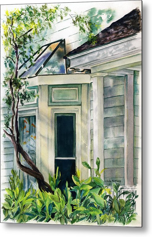 House Metal Print featuring the painting Beaufort House by Paula Nathan