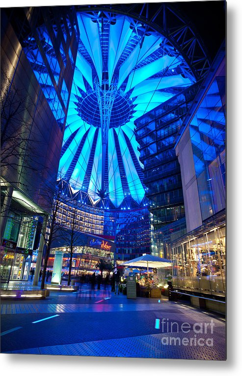 Sony Center Metal Print featuring the photograph Blue Berlin by Mike Reid