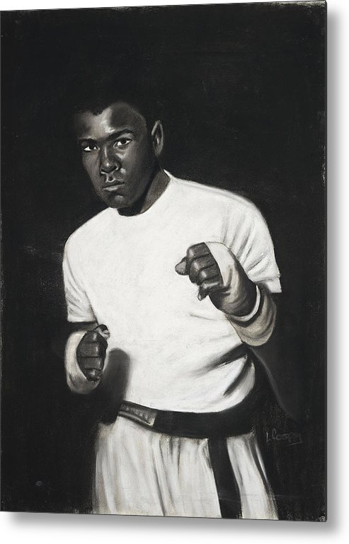 L Cooper Metal Print featuring the pastel Cassius Clay by L Cooper