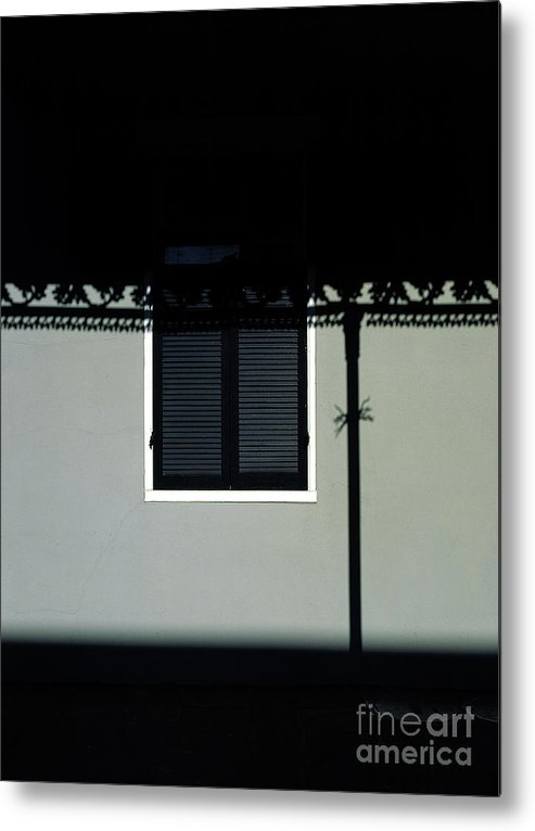 French Quarter Metal Print featuring the photograph French Quarter Shutter And Shadows by Mike Nellums