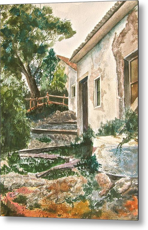 Greece Metal Print featuring the painting Millstone Aria by Frank SantAgata