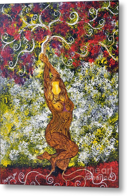 Tree Metal Print featuring the painting The Angel Tree by Stefan Duncan