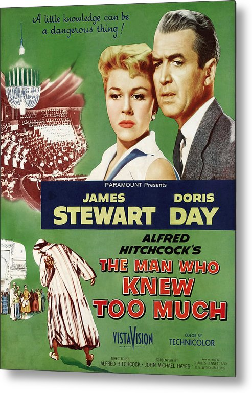 1956 Movies Metal Print featuring the photograph The Man Who Knew Too Much, Top by Everett