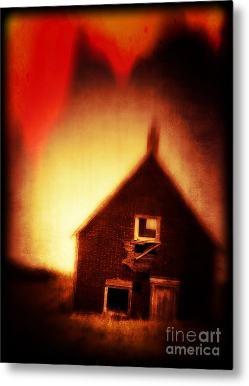 Scary Metal Print featuring the photograph Welcome To Hell House by Edward Fielding