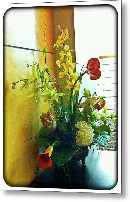 Flowers Metal Print featuring the photograph Floral Bouquet by Francesco Roncone
