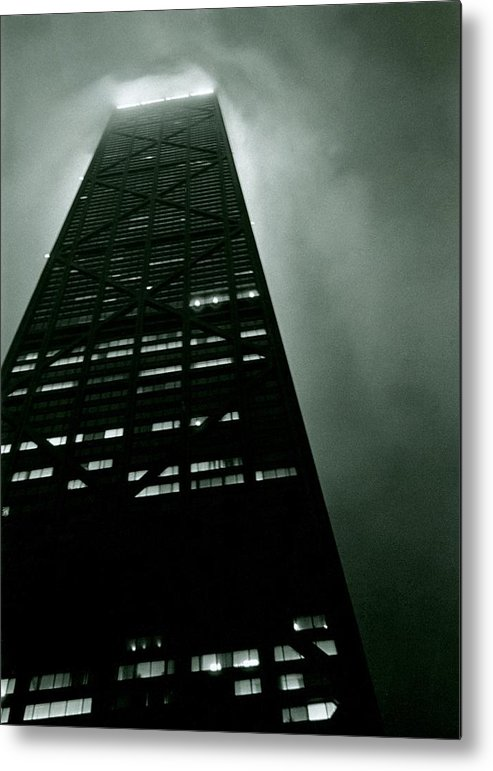 Geometric Metal Print featuring the photograph John Hancock Building - Chicago Illinois by Michelle Calkins