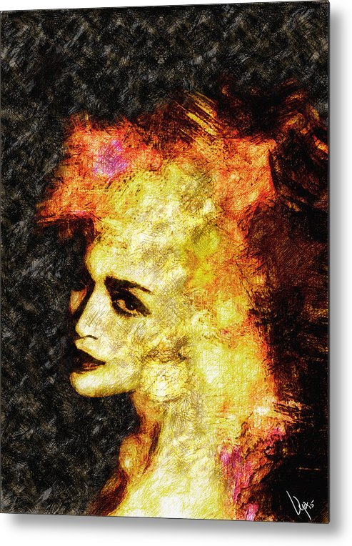 Madonna Metal Print featuring the painting Madonna by Vya Artist