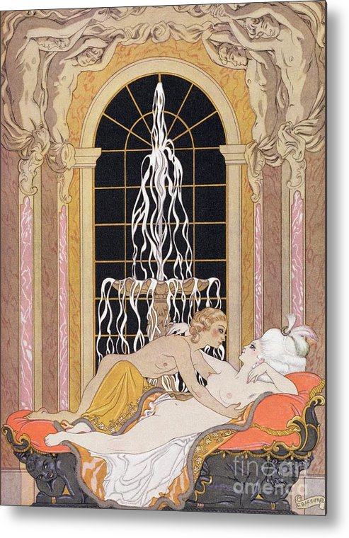 Barbier Metal Print featuring the painting Dangerous Liaisons by Georges Barbier
