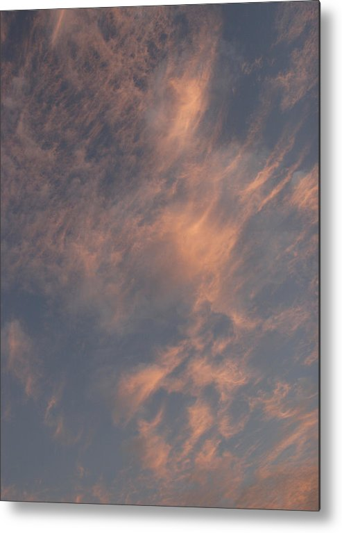 Summer Metal Print featuring the photograph Evening Summer Sky by Masami Iida