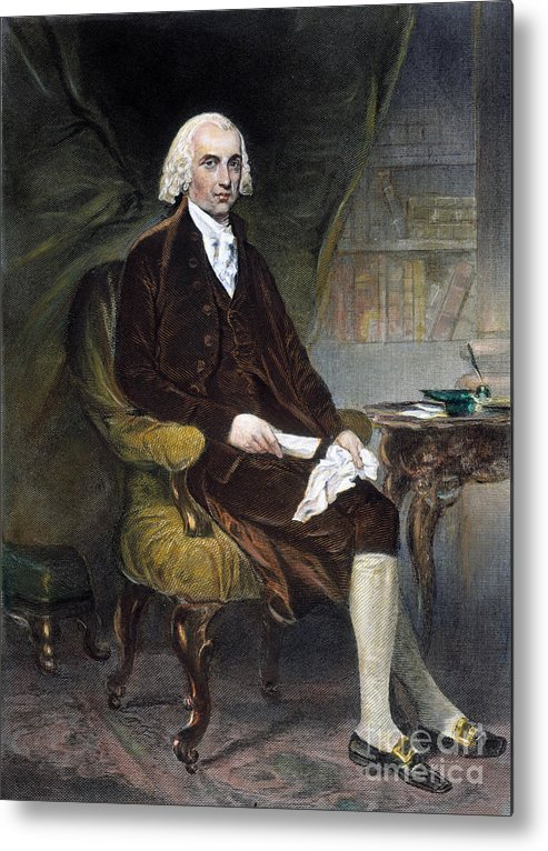 19th Century Metal Print featuring the photograph James Madison (1751-1836) by Granger