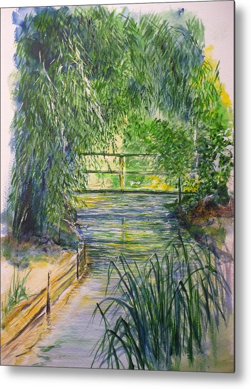 Giverny Metal Print featuring the painting A Day At Giverny by Lizzy Forrester