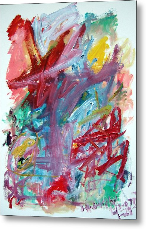 Abstract Metal Print featuring the painting Abstract Composition by Michael Henderson