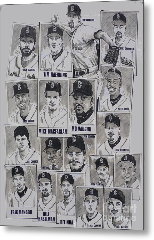 Mbl Metal Print featuring the drawing Al East Champions Red Sox Newspaper Poster by Dave Olsen