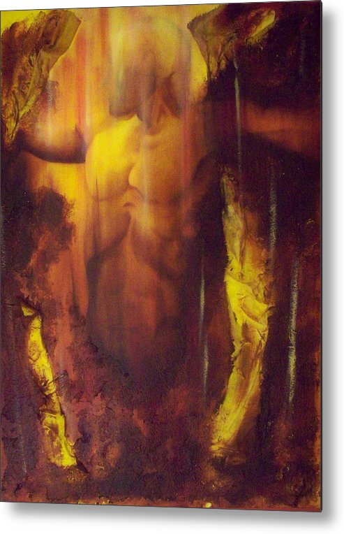 Original Paintings Metal Print featuring the painting Almost Beyond3 by Hoparte Gallery