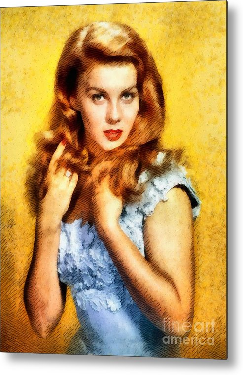 Hollywood Metal Print featuring the painting Ann-margert, Vintage Hollywood Actress by John Springfield