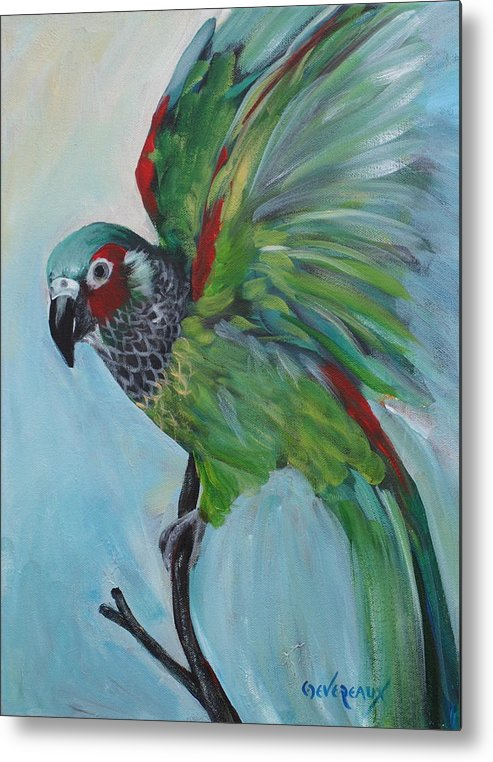Bird Metal Print featuring the painting Arika by Cher Devereaux