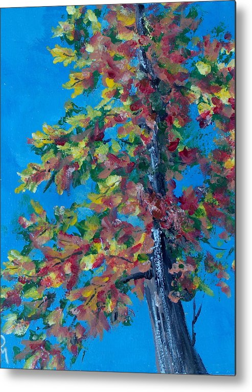 Tree Metal Print featuring the painting Asymmetree by Pete Maier