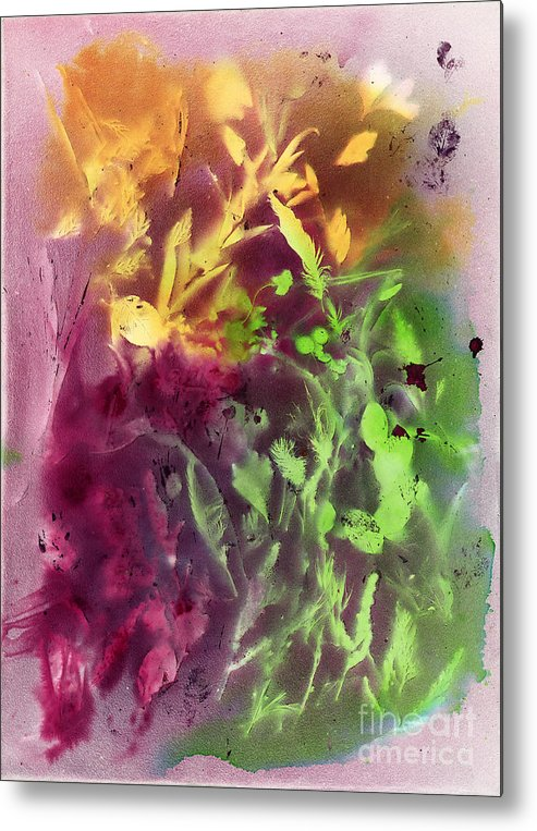 Abstract Metal Print featuring the painting Autumn Abstract by Dawn Marie Black