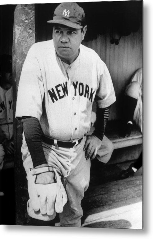 1930s Candid Metal Print featuring the photograph Babe Ruth In The New York Yankees by Everett