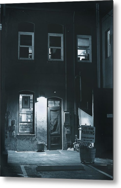 Alley Metal Print featuring the photograph Back Door To The Wine Shop by Jim Furrer