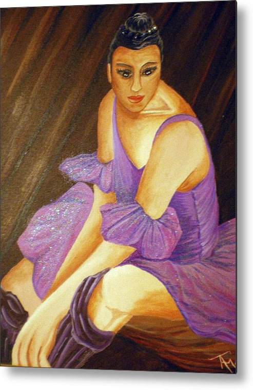 Ballet Metal Print featuring the painting Ballerina by Tammera Malicki-Wong