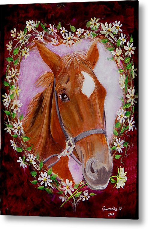 Horse Metal Print featuring the painting Batuque by Quwatha Valentine